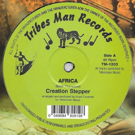Creation Stepper - Africa / Pebbles - Wa Go A Africa (Tribes Man) 12""